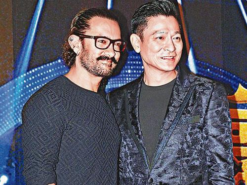 """印度劉德華""""Aamir(左)表示有興趣跟華仔合作拍電影。"""