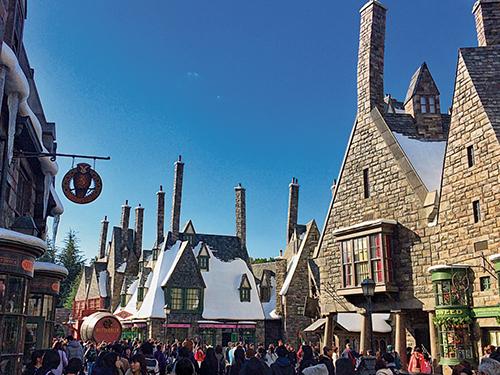 哈利波特活米村,小說中設定為學校附近的魔法村子。