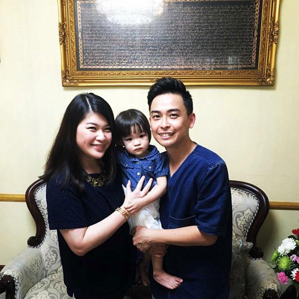溫勝光3年前與太太註冊結婚,同年9月喜獲愛女溫紫田。(圖/溫勝光面書)