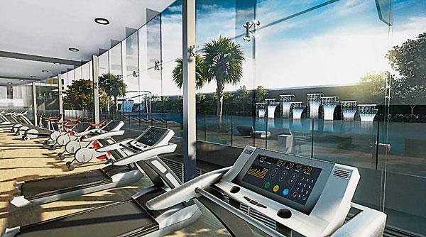完善的休閒與健身設施,即使不出門,也可以享受到健康的生活。