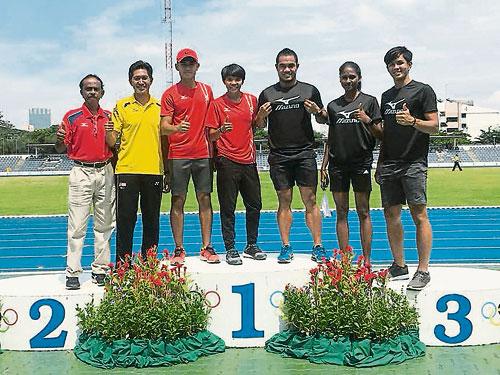 里祖阿(右起)、施琳、尼克森和努希娜在泰國公開賽創造佳績。(Atlet Malaysia推特照片)