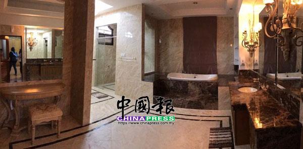 主人房的浴室,空間相當大。
