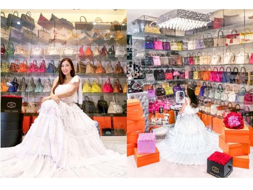 """新加坡名媛Jamie Chua蔡欣穎被譽為""""世上擁有最多愛馬仕柏金包包的女人""""。"""