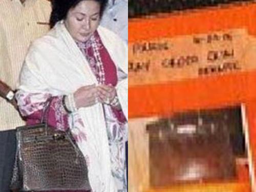 羅絲瑪持深褐色手提包和警方搜出的深褐色手提包。