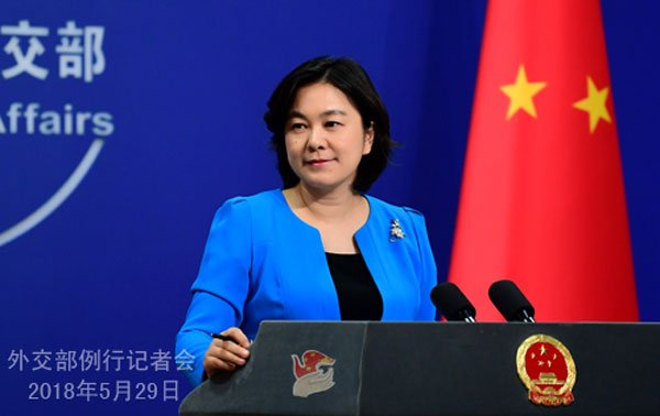 中國外交部發言人華春瑩,在週二的例行記者會上,回答隆新高鐵取消的相關問題。圖:互聯網