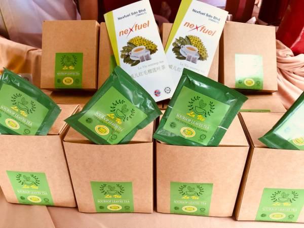 Nexfuel Sdn Bhd所研發的拉威兒紅毛榴槤葉茶的抗氧化成分有助抗癌,更可緩解關節炎,痛風,舒缓血压及便秘,有助皮膚及頭髮護理及許多功效。