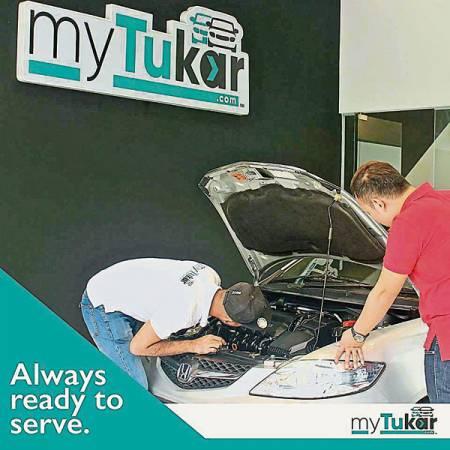 車主可選擇親自到myTukar公司或待工作人員上門檢驗汽車后,即可放到myTukar電子平台出售汽車。