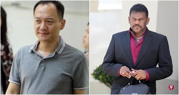 左圖:起訴人維修公司老闆林偉明;右圖:追債公司老闆羅哲(Roger Rajan)。(《海峽時報》)