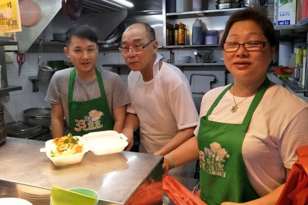 苏介龙(中)和陈秀珠,已传授手艺给干儿子翊钦(左)。