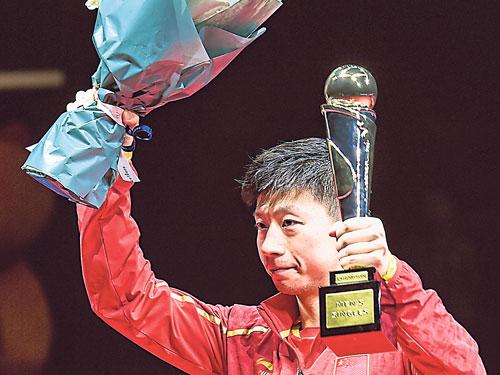 馬龍稱霸中國乒乓球賽。(新華社)