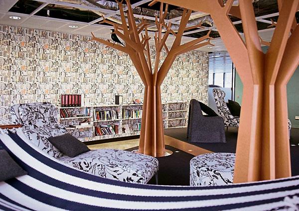如果你想在大腦工作的同時放鬆自己的身體,那麼谷歌悉尼辦公室一定能滿足你,躺在仰臥沙發絕對是員工最舒服的選擇之一。