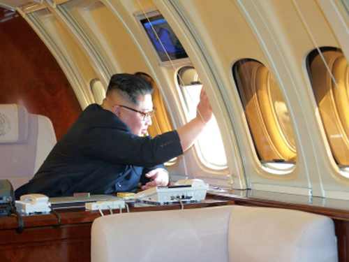 """金正恩5月曾乘坐專機""""蒼鷹1號""""到訪中國大連。"""