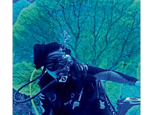 如今,拉菲達會趁著潛水教練一有空檔,就跟隨他去潛水。