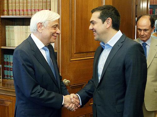 總理齊普拉斯週五會見總統帕夫洛普洛斯,說明希臘債務危機的最新情況。