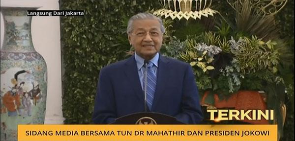 馬哈迪在聯合記者會披露,大馬有意與印尼重啟製造東協汽車項目。