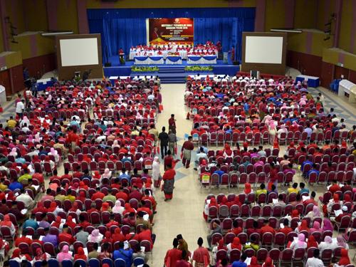 在大禮堂召開的巫統北根區部代表大會,出席率達90%。