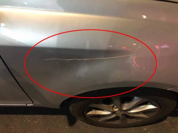多名車主的愛車添加一道傷痕,令車主心痛不已。