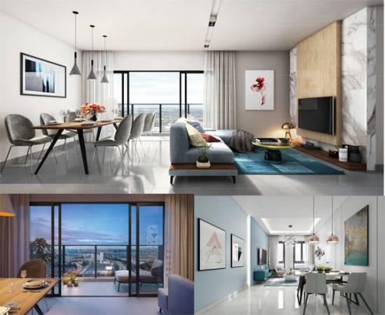 服務式公寓共有6種不同設計供選擇,總有一款合你意。