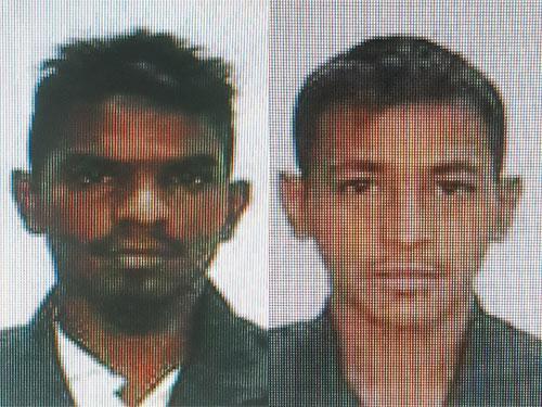 (左)印裔嫌犯。 (右)華裔嫌犯。