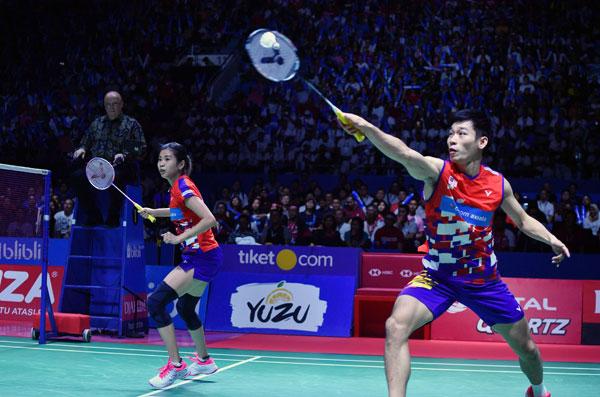 陳炳順(右)與吳柳瑩殺回世界前10,重奪大馬第一指日可待。
