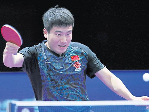 梁靖崑打入韓國賽決賽。(歐新社)