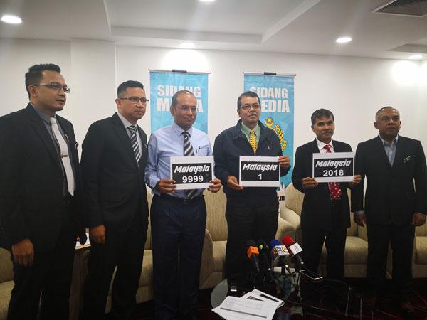 Malaysia特別系列車牌即將開放競標,有意者萬勿錯過,左起為立扎再迪、依斯馬蘇海米、莫哈末魯斯迪、沙哈魯丁、魯斯蘭及阿末納希爾。