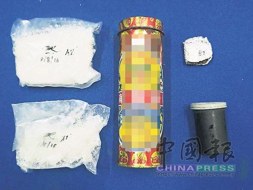 雲冰警方從毒販屋內,搜獲市值逾1萬2000令吉的冰毒。