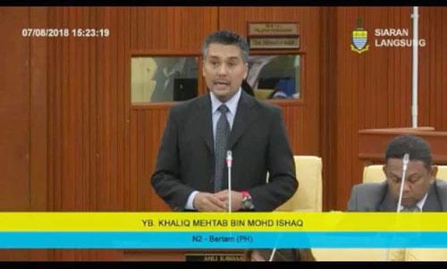 卡立梅達在州議會內為選民發聲。