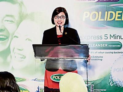 馬來西亞牙醫協會主席吳婉婷醫生表示,假牙如同真牙,需要細心呵護,才能保持口腔健康衛生。