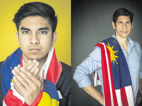 左:Syed Saddiq-青年與體育部長 右:王觀成(Jeffrey Ong)-資深游泳運動員