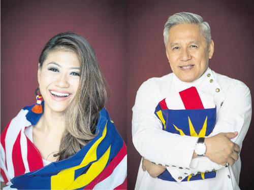 左:Anita Ibrahim-電視主持、馬背射擊運動員 右:Chef Wan-著名廚師