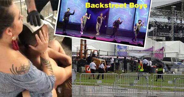 后街男孩演唱會發生金屬框架倒塌意外,導致14人受傷。