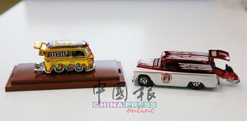 各式各樣的玩具車,為林明耀的童年時光增添了許多五彩繽紛的美好回憶。