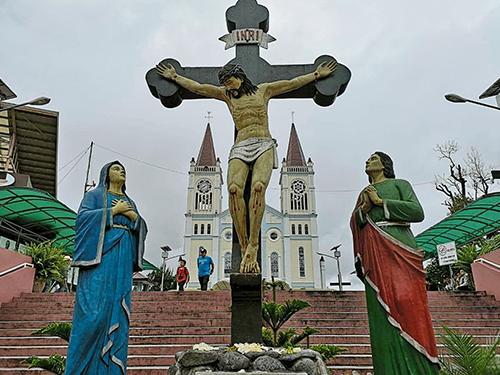 山城重要地標,也是居民信仰中心——贖罪圣母教堂。