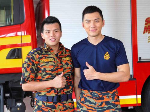 ■孫偉強(左) 33歲/馬六甲野新消防局局長,七年消防經驗