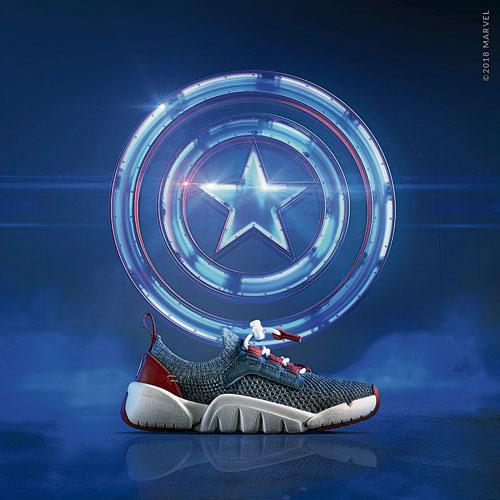 作為自由與解放的象徵,美國隊長一直與自己的夥伴之間有著牢不可破紐帶。同樣在三款鞋的設計上,採用鮮明的藍色和紅色來代表美國隊長的身分。