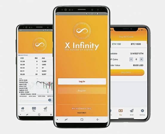 在Google Play及App Store上,都能夠下載X Infinity加密貨 幣錢包的應用程序。