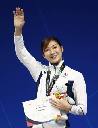 池江璃花子放眼成為本屆亞運會最有價值運動員。(歐新社)