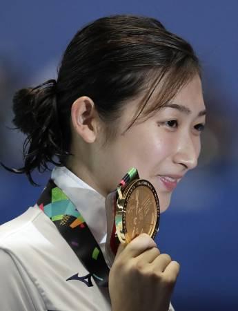 兩年後,池江璃花子站上的獎台可能是東京奧運會了。(美聯社)