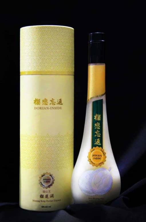 全球第一支貓山王榴槤酒。