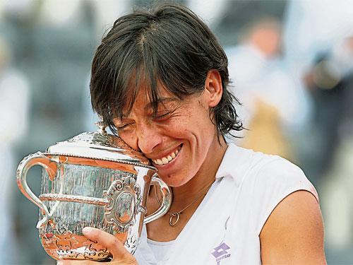 斯齊亞沃尼宣布退役。這是她贏取2010年法網的檔案圖片。(路透社)