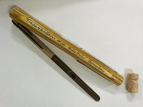 本南族傳統樂器口簧,由森林里最容易取得的竹子制成。