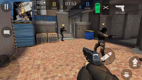 02‧近距離射擊時,要適時移動,建議玩家不斷地做蹲下站起的動作,這樣就可以有效地保證不被敵方爆頭了;但玩家移動時,會有一定程度降低射擊精度,遠射時,不斷蹲起即可。