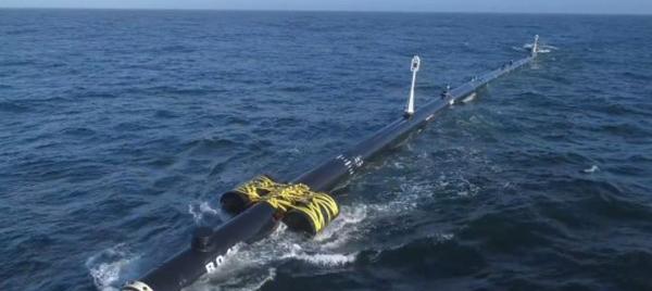 海洋垃圾收集器外觀。