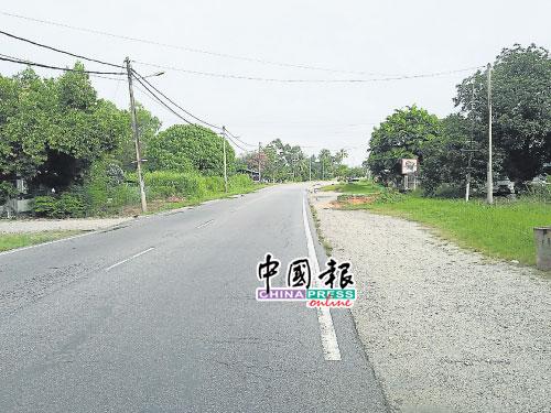 芭尾路左側沿路地段,將被政府徵用。