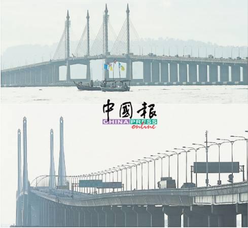 檳州政府並不打算接管檳城一橋(上圖)及二橋(下圖)。(檔案照)