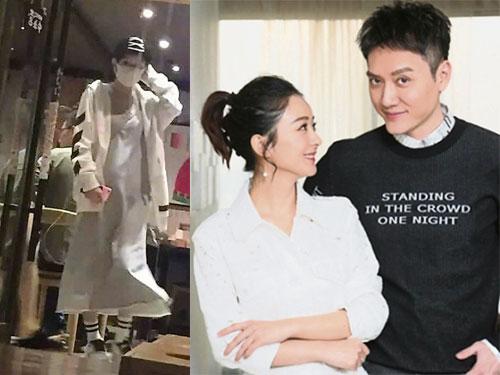 趙麗穎(右)與馮紹峰屢傳緋聞,網路更流出她懷孕的消息。