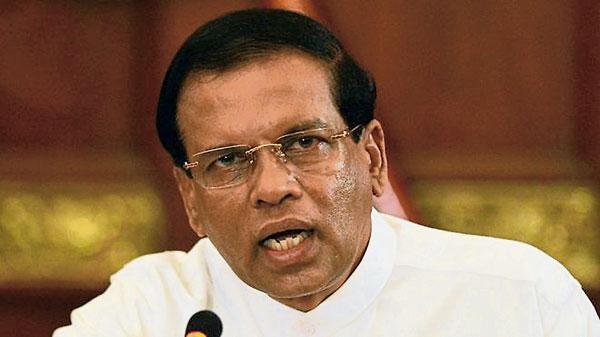 斯里蘭卡總統西里塞納。