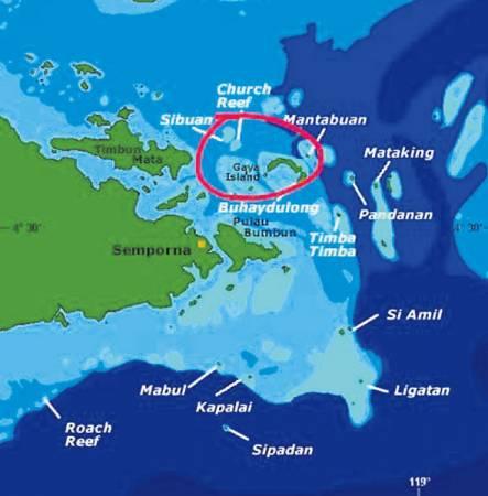 案發的海域靠近仙本那。