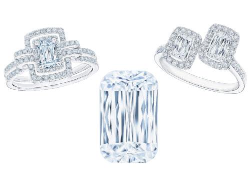 左:鑽石經歷多重嚴謹的打磨與篩選工序,每一顆均獨一無二,極為罕有。 中:獨有的專利切割令閃爍度昇華,更顯美麗矚目,令人讚嘆。 右:鑽飾設計以美學為依歸,巧妙運用不同線條、形狀和顏色,打造融會藝術與時尚的珍品。